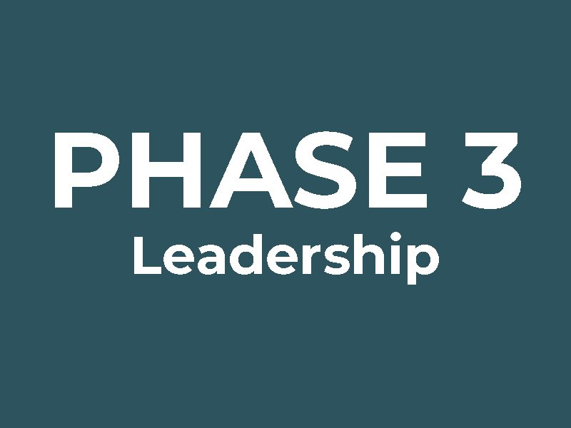Phase 3: Leadership