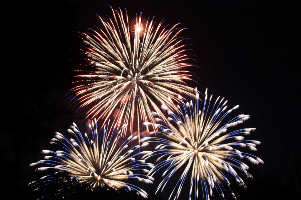 fireworks exploding in the sky celebrating freedom from addiction with Recovery Ventures Asheville NC